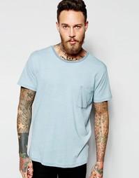 Голубая футболка Dr Denim Russ - Светло-голубой