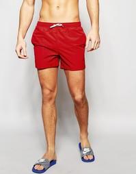 Однотонные шорты для плавания Abercrombie & Fitch - Красный