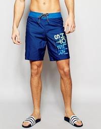 Пляжные шорты с логотипом Hollister - Темно-синий
