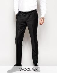 Супероблегающие эластичные брюки под смокинг Noose & Monkey - Черный