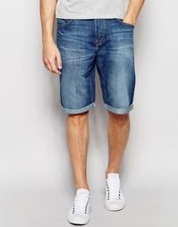 Синие прямые джинсовые шорты с 5 карманами Lee - Blue collective