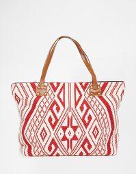 Пляжная сумка с ацтекской вышивкой Glamorous - Разноцветный ацтекский