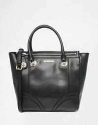 Черная сумка-тоут на молнии Love Moschino - 000 черный