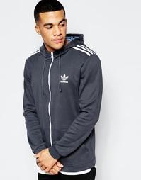 Худи в полоску adidas Originals AZ3270 - Черный