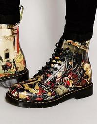 Ботинки с 3 люверсами и принтом Dr Martens D'Antonio - Черный
