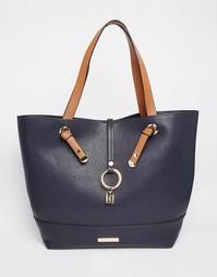Темно-синяя сумка-тоут Dune - Темно-синий