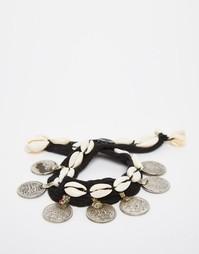 Браслет с монетками и ракушками Reclaimed Vintage - Серебряный