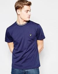 Темно-синяя футболка с логотипом Lyle & Scott Ringer - Темно-синий