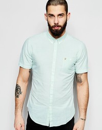 Рубашка слим с короткими рукавами и пунктирной полоской Farah