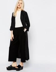 Мягкое драпированное пальто Monki - Черный