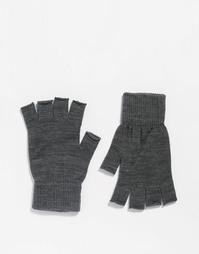 Серые перчатки без пальцев ASOS - Серый