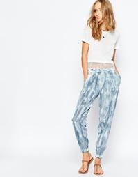 Синие шелковые брюки с принтом тай‑дай Gypsy 05 - Cyprus navy td