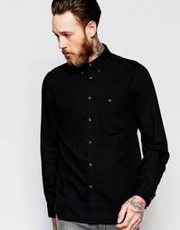 Рубашка классического кроя Nudie Jeans Stanley - Черный
