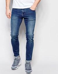 Облегающие джинсы из стираного денима Dr Denim - Умеренный темно-серый