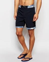 Пляжные шорты длиной 16,5 дюйма Globe Dye Die - Черный