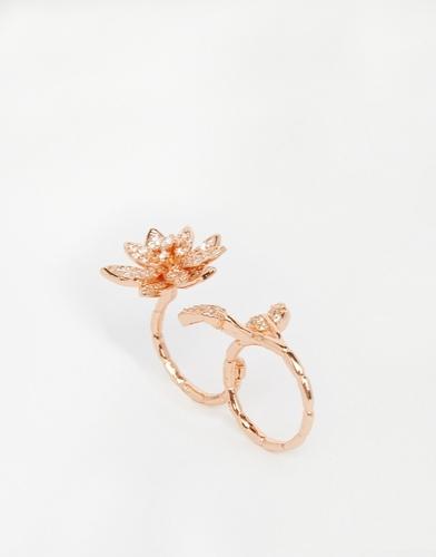 Двойное кольцо с цветами Coast - Золотой