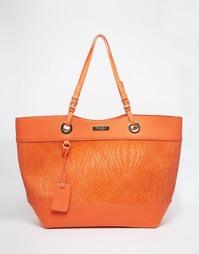 Плетеная сумка-тоут для покупок Carvela - Оранжевый