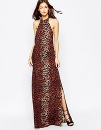 Платье макси с леопардовым принтом Flynn Skye Tyra - Leopard