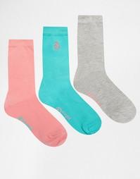 3 пары бирюзовых носков Penguin - Бирюзовый