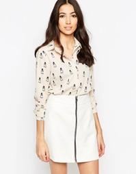 Рубашка с принтом сов Sugarhill Boutique Jemima - Кремовый
