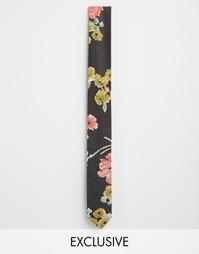 Узкий галстук с цветочным принтом Reclaimed Vintage - Мульти