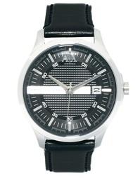 Часы с черным кожаным ремешком Armani Exchange AX2101 - Черный