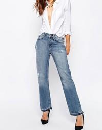 Стираные джинсы бойфренда с ремешком сзади ASOS Portland True