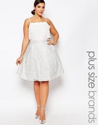 Пышная юбка миди для выпускного с пайетками в стиле барокко Chi Chi Lo