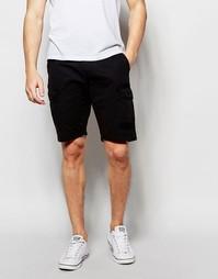 Выбеленные черные шорты карго прямого кроя Blend - Черный