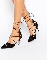 Туфли на каблуке со шнуровкой ASOS SIREN - Черный