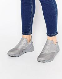 Серые кроссовки-слипоны Reebok Furylite - Tin grey