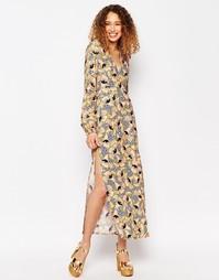 Платье макси с длинными рукавами и цветочным принтом ASOS AFRICA x Chi