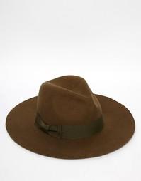 Мягкая фетровая шляпа Brixton Duvall - Зеленый