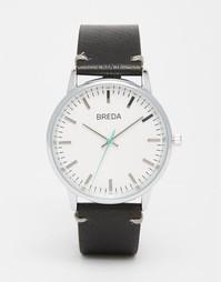 Часы с черным кожаным ремешком Breda Zapf - Черный