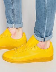 Желтые кроссовки adidas Originals Stan Smith S80247 - Желтый
