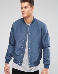 Куртка-пилот Esprit - Серо-синий