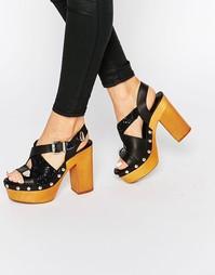 Черные босоножки на каблуке Eeight Sienna - Черный