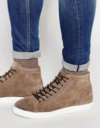 Высокие замшевые кроссовки Walk London - Коричневый