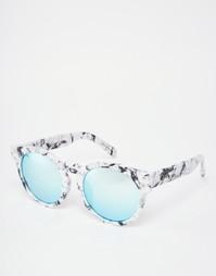 Круглые солнцезащитные очки с зеркальными стеклами Quay High Emotion