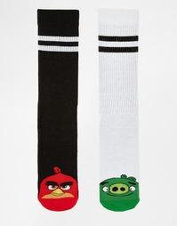 2 пары спортивных носков ASOS Angry Birds - Белый