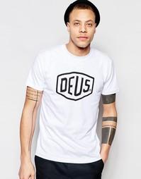 Футболка с логотипом в виде щита Deus Ex Machina - Белый