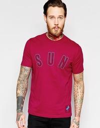 Футболка с принтом SUN Paul Smith - Розовый