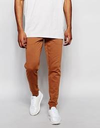 Супероблегающие спортивные штаны ASOS - Chestnut