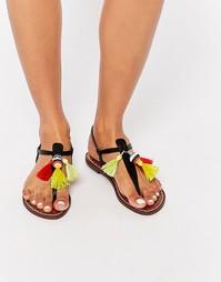 Черные сандалии с перемычкой с отделкой кисточками Sam Edelman Garsem