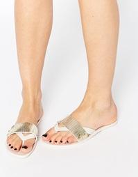 Кремовые сандалии вьетнамки Melissa - Белый