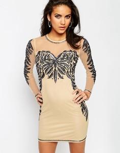 Облегающее платье мини ASOS - Телесный