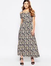 Платье макси с бретельками сзади и цветочным принтом Liquorish