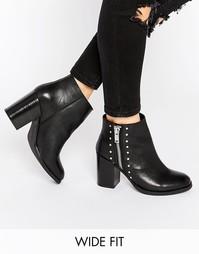 Кожаные ботинки для широкой стопы ASOS ROSA - Черный