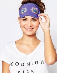 Маска для сна с принтом глаз Chelsea Peers - Разноцветный