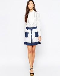 Сетчатая юбка с контрастной отделкой Sister Jane Loulou - Белый